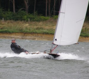 Sailing the British Moth in heavy weather